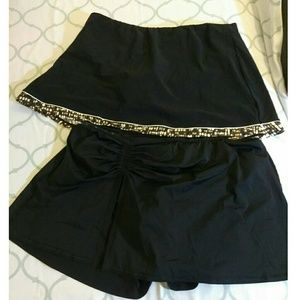 Plus size bikini skirt bottoms